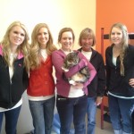 From left to right: Ashlee, Shannon, Elizabeth, Susi, and Bri from Carlson Pet Products