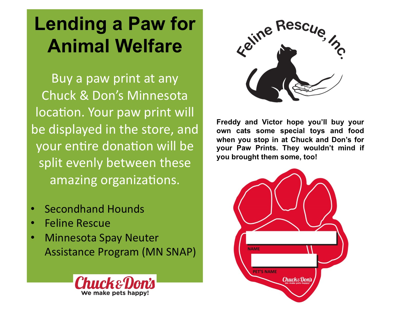Chuck & Don's Paw Print Fundraiser