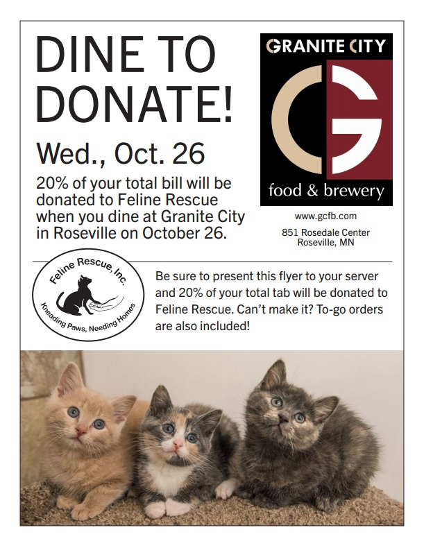 Dine to Donate Oct 26